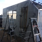 Enclosed acm trailer in progress
