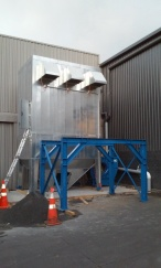 Installing of dust extraction unit fibreglass