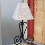 Custom made iron wrought lamp