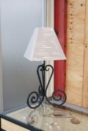 Custom made iron wrought lamp