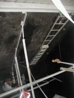 Plaztuff lining aggregate bin