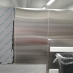 Stainless steel wall lining